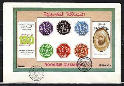 Morocco, Scott cat. 753. Post Centenary s/sheet First Day cover.