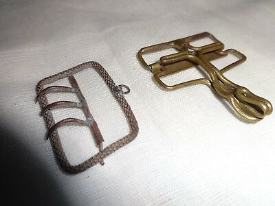 Two cool looking antique suspender clips!!!