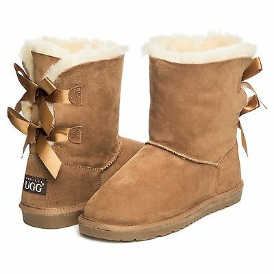 Real Aus Ugg Boots - Ladies Bailey Bow - Bb09