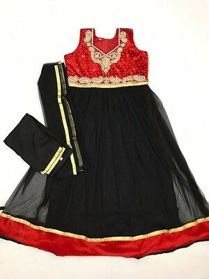 $30 Special Deal Retail $199  Girls  Dress Indian Anarkali suit size 34 10-11 Yr