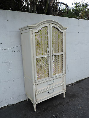 French Carved Painted Armoire by Basic Witz 8371X