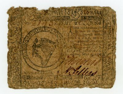 (CC-38) May 9th, 1776 $8 Continental Currency Note