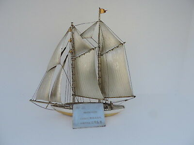 MASTERLY HAND CRAFTED LARGE SOLID STERLING SILVER 970 SHIP SCRAP 222 gr 7.8 OZ