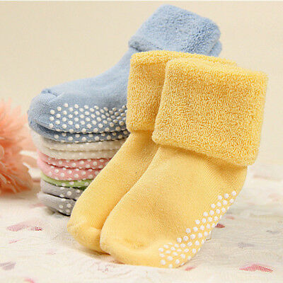 Candy Color Babys Toddler Socks Anti Slip Warm Newborn Thicken Warm Sock New