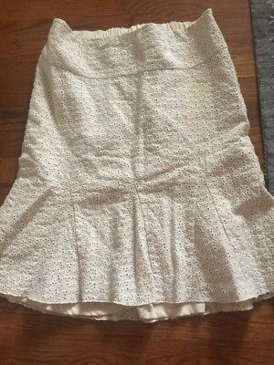 Mimi Maternity Eyelet Skirt Size Medium