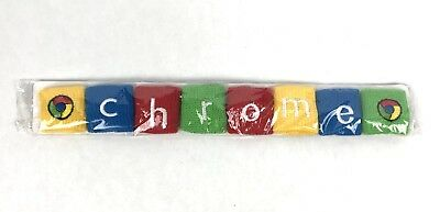 NEW Rare Unique Google Chrome Chromercise Finger Sweat Bands Everybody Exercise
