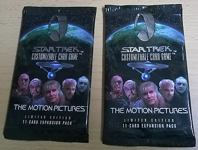 Star Trek CCG The Motion Pictures Limited Lot of 2x Booster Packs (Mint, Sealed)