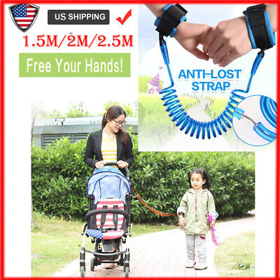Child Kid Anti-lost Safety Wrist Link Harness Strap Rein Belt Traction Rope UK