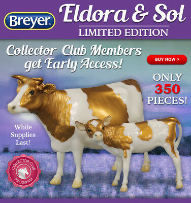 Breyer Web Special Eldora & Sol Cow And Calf In Hand NIB Box Not Opened