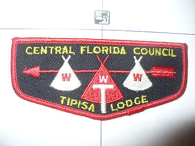 OA Tipisa Lodge 326, F-3, 1961 Tipis TOUGHEST Flap,LB,Central Florida Council,FL