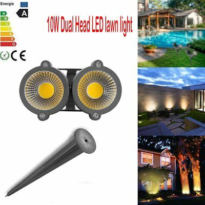 10W LED COB Dual Lawn Light Spotlight Lamp with Spike for Yard Patio Path AC12V