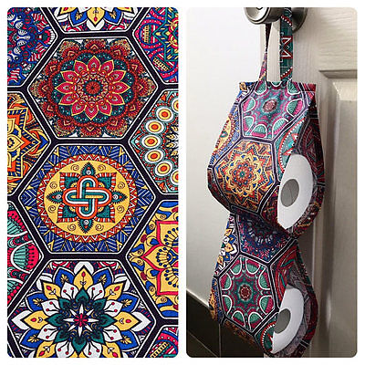 Double Toilet Roll Holder/ Toilet Paper Holder/ Bathroom Storage Mosaic