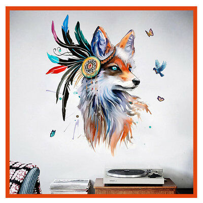 India Fox Framed/Unframed Paint By Number Kit Painting Canvas DIY Home Decor AU