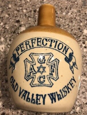 PERFECTION OLD VALLEY WHISKEY ONE QT STAR DAVID HANDLED JUG A G F C No Reserve