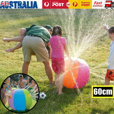 Kids Inflatable Ball Sprinkler Water Ball Fountain Beach Backyard Pool Game Toy
