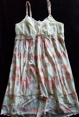 AS NEW-HOTmilk - Floral Lace Nursing Nightie - Maternity Night Dress sz XL