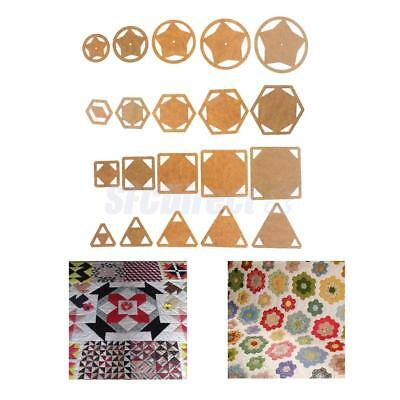 5pcs Mixed Sizes Shape Quilt Templates Acrylic DIY Tools for Patchwork Quilting