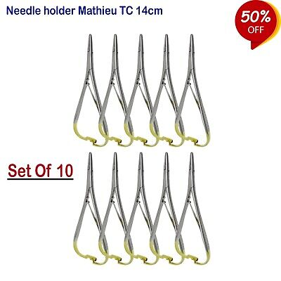 Surgical Mathieu Needle Holders TC Suture , Forceps Orthodontic Instrumente CE