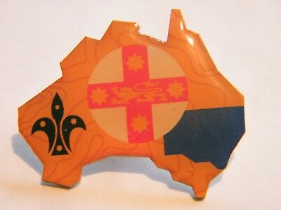 Scouts Australia Metal Pin Badge - NEW SOUTH WALES, NSW - NEW & LIMITED EDITION
