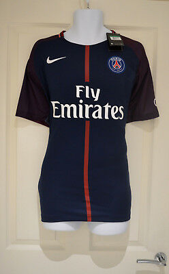 17/18 PSG Neymar Number 10 Home Shirt Nike France Ligue 1 Size L BNWT