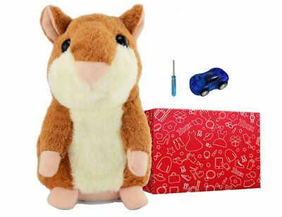 Little Talking Brown Hamster Toy Doll Repeat What You Say Plush Baby Hamster Pet
