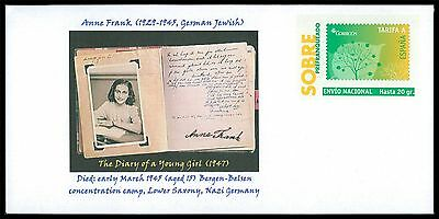 SPAIN PRIVAT-GA GANZSACHE ANNE FRANK JUDAICA JEWISH ANTI-FASCISM RARE!! cd23