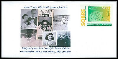 SPAIN PRIVAT-GA GANZSACHE ANNE FRANK JUDAICA JEWISH ANTI-FASCISM RARE!! cd15