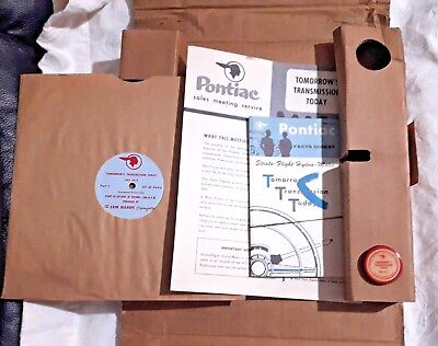 RARE Boxed 1956 Pontiac Salesman Promotion Kit With Record & Film & Brochures