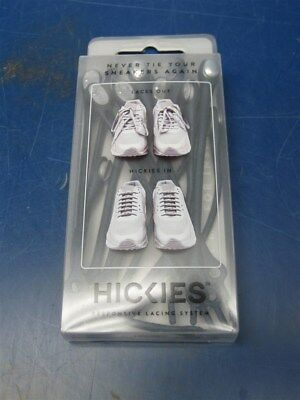 NEW Hickies ELEMENTS Elastic Responsive Lacing System NAVY/SILVER