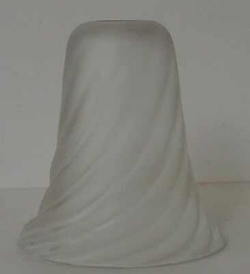 Lampshade Original Vintage Period Frosted Glass Spiral Pattern