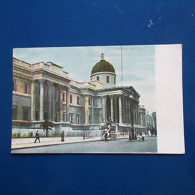 Old Postcard of The National Gallery, London.