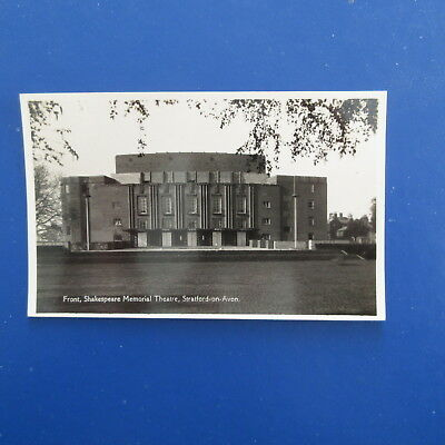 Old Postcard of The Front, Shakespeare Memorial Theatre, Stratford on Avon.