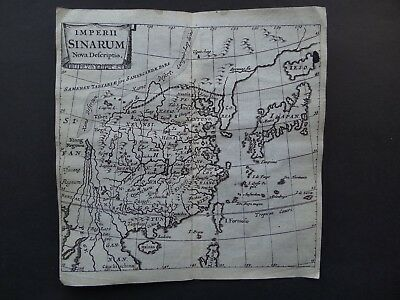1686 CLUVER Atlas map CHINA  Imperii Sinarum Nova Descriptio  Japan Corea Korea