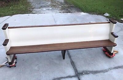 Vintage Church Bench Pew Seat 9' Long Could Re-purpose For Up To 3 Benches