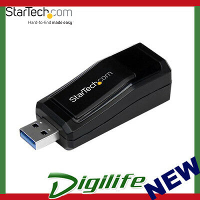 STARTECH USB 3.0 to Gigabit Ethernet NIC Network Adapter - 10/100/100 Mbps