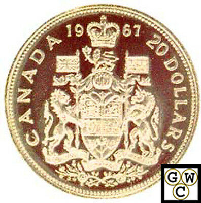 1967 Proof $20 Gold Coin 'Coat of Arms' (10382)