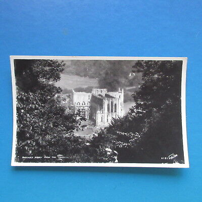 Old Postcard of Rievaulx Abbey from the Terrace.