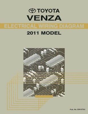 2011 Toyota Venza Wiring Diagrams Schematics Layout Factory OEM