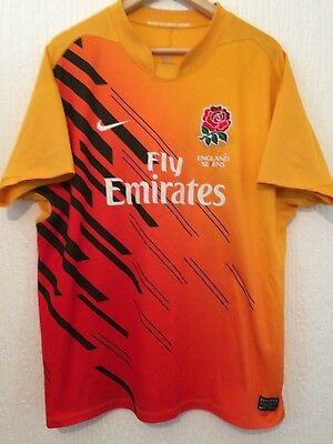 England Alternate 7's  2010 / 2011  Nike  Rugby Shirt