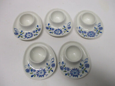 5 vintage stacking  Norway Figgjo egg cup holders