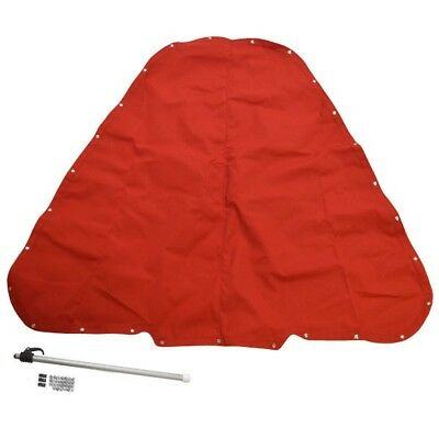 Crownline Boat Tonneau Cover 44369 | 180 BR Vermilion Red Taylor Made