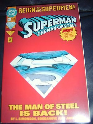 Superman The Man Of Steel #22 June 93 'Reign Of The Supermen' Die Cut Cover