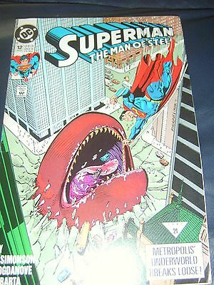 Superman The Man Of Steel #12 June 92 'Panic In The Streets'