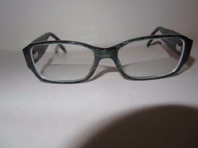 Womens Chanel Black Quilted Leather Frame/prescription Lens Glasses