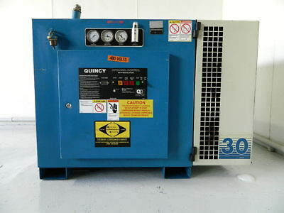30 Hp Quincy Rotary Screw Air Compressor Model Qmb30Aca31E. 120 Cfm @ 125 Psi