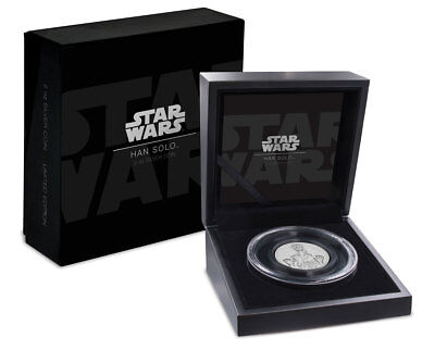 2017 Niue Star Wars Classic -Han Solo UHR 2 oz Silver Proof $5 Coin OGP SKU51915