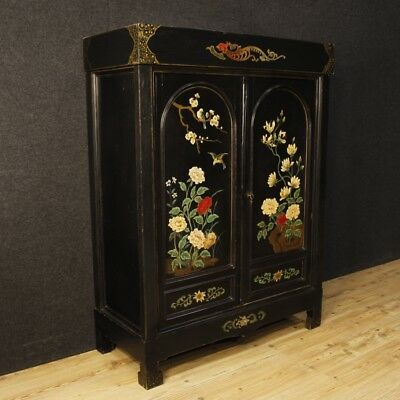 Closet lacquered chinoiserie furniture chest of drawers cupboard wood painted