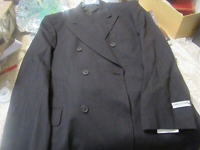 Nwt Armani Suit 44L Neiman Marcus Made In Italy Slim Fit All Wool Yr Round