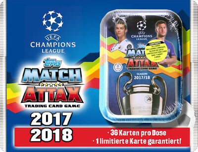 Topps Match Attax Champions League  2017/2018 Mini Tin inkl. Limited Edition