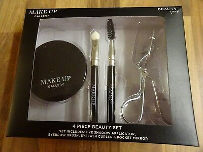 Make Up Gallery Too Hot 4 Piece Gift Set Eye Curlers Brush Mirror Xmas Gift New